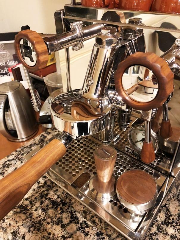 Rocket R60v hardwood coffee parts set