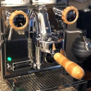 RocketGIOTTO TIPO V Wooden Coffee Parts Set, Rocket Espresso Hardwood Parts, Rocket Appartamento Handmade Parts Set
