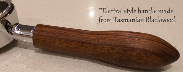 'Elektra' style PF Handle made from Tasmanian Blackwood